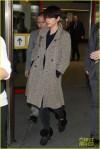 Jamie Dornan's wife Amelia Warner arriving at Tegel airport